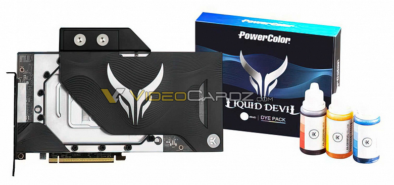 Появились первые изображения видеокарты PowerColor Radeon RX 6900 XT Liquid Devil