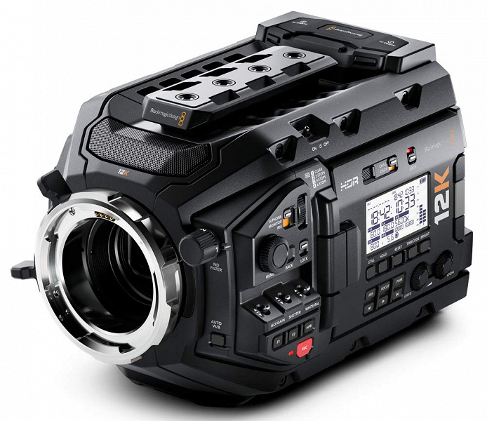 Камера Blackmagic URSA Mini Pro позволяет снимать видео 12K в формате RAW с частотой 60 к/с
