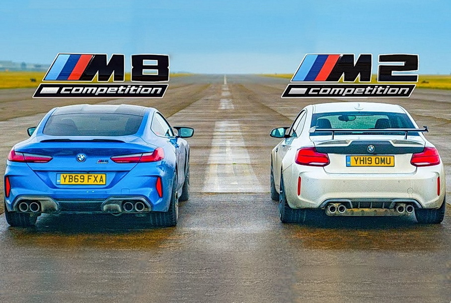 Дрэг-гонка: BMW M2 Competition против новой M8